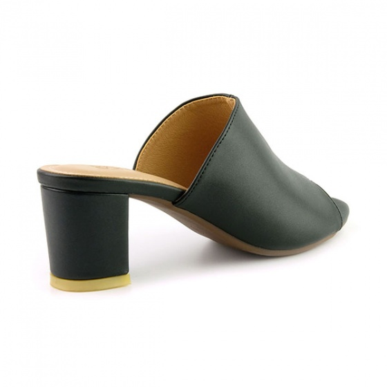 Guốc da thời trang êm chân Sunday GG04 màu đen