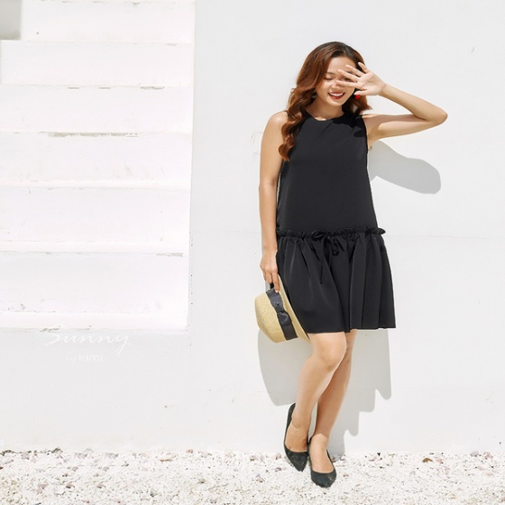 Đầm suông chân váy xòe Kimi - AD190090