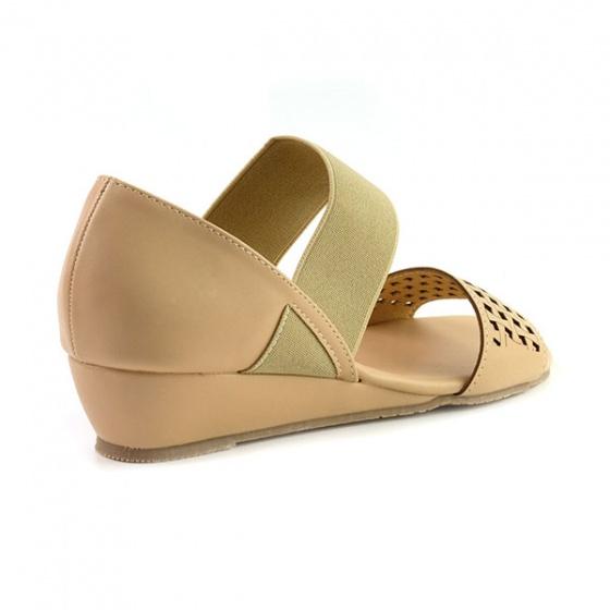 Giày đế xuồng êm chân Sunday DX22 màu kem