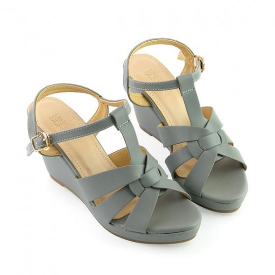 Giày đế xuồng êm chân Sunday DX16 màu xám