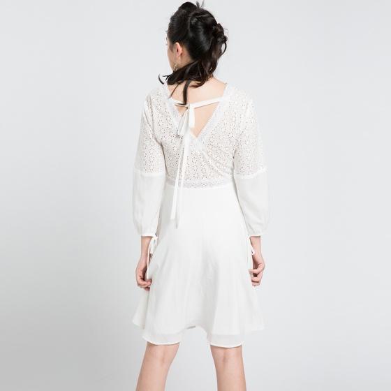 Đầm xòe Hity DRE075 fit & flare (trắng kim cương)