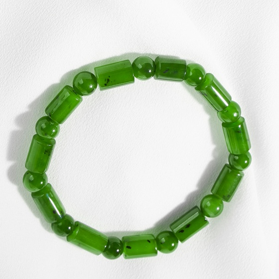 Vòng tay phong thủy đá ngọc bích đốt trúc 7mm mệnh hỏa, mộc - Ngọc Quý Gemstones