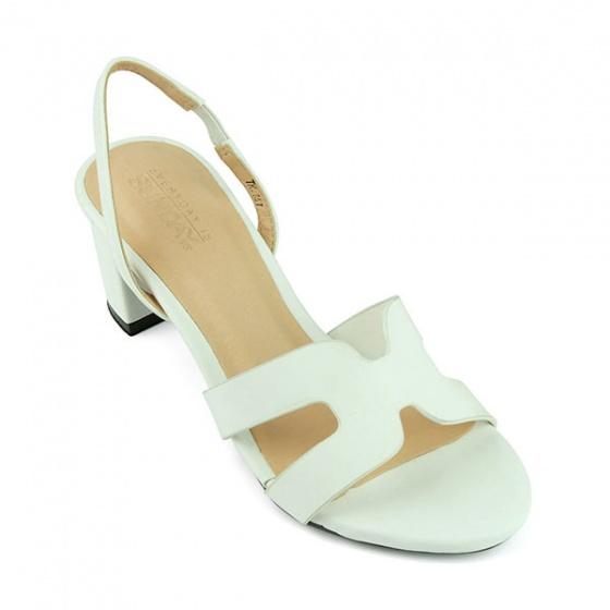 Sandal quai ngang Sunday DV47 màu trắng