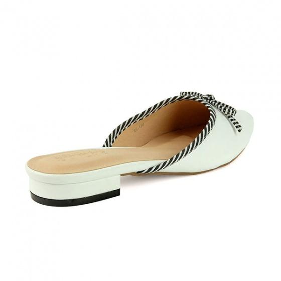 Dép búp bê êm chân Sunday BB32 màu trắng