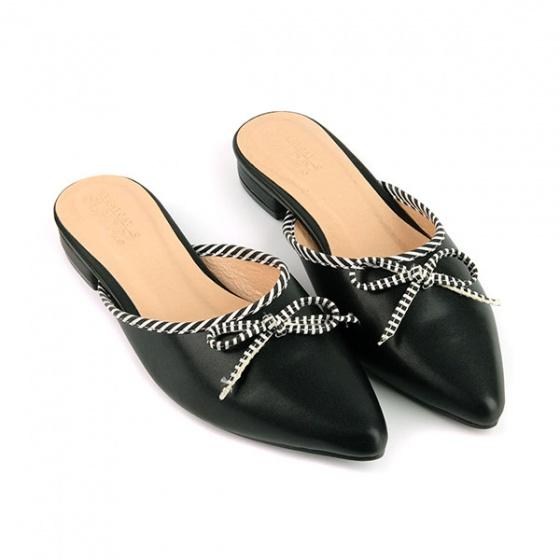 Dép búp bê êm chân Sunday BB32 màu đen