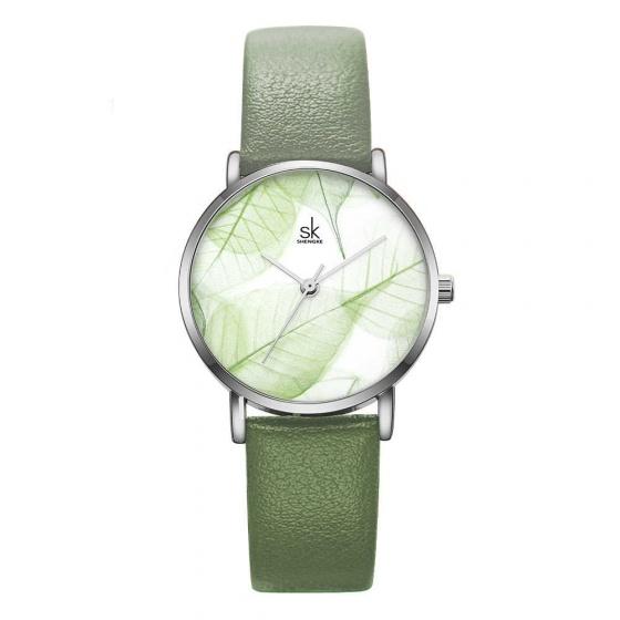 Đồng hồ nữ chính hãng Shengke Korea K0108L-01 xanh rêu