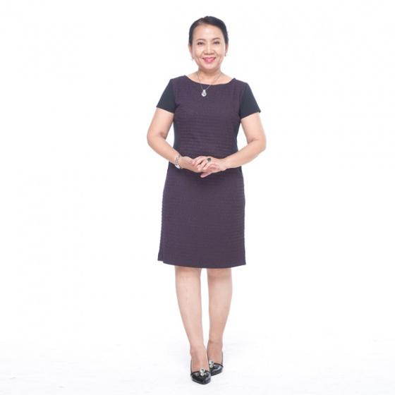 Đầm nữ trung niên form chữ A - UPAR48