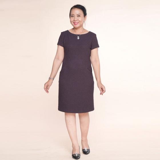 Đầm nữ trung niên form chữ A - UPAR49