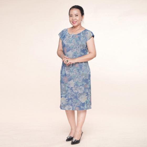 Đầm nữ trung niên form suông - UPAR50
