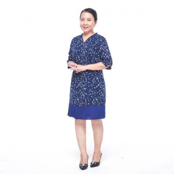 Đầm nữ trung niên form suông - UPAR35