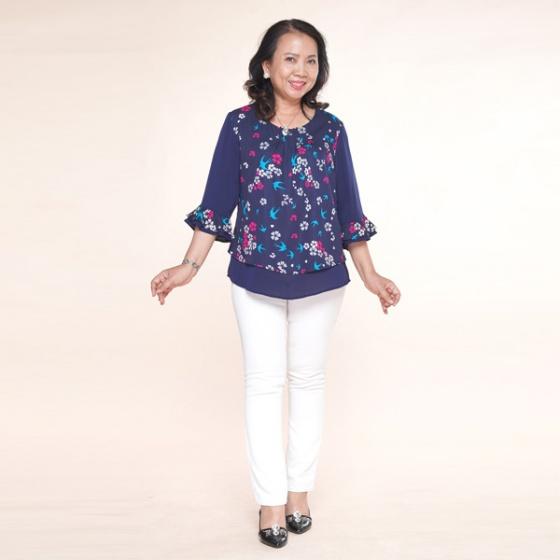 Áo kiểu nữ trung niên - UPAR36