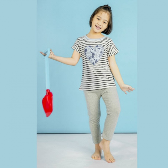 Quần leggin bé gái UKID154 (màu xám)