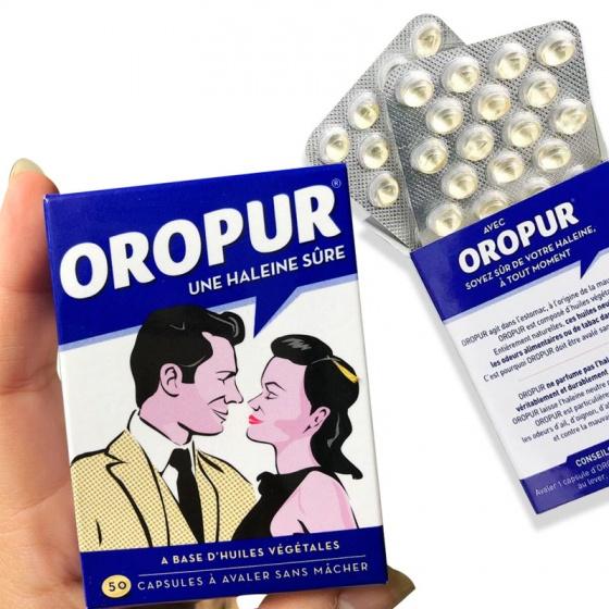 Viên uống chống hôi miệng Oropur 50 viên – chính hãng từ Pháp