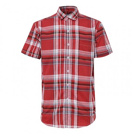 Bộ 2 áo sơ mi ngắn tay sọc caro thời trang tặng kèm 1 dây nịt SMC2927