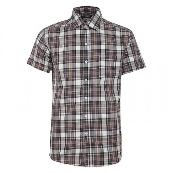 Bộ 2 áo sơ mi ngắn tay sọc caro thời trang tặng kèm 1 dây nịt SMC2930