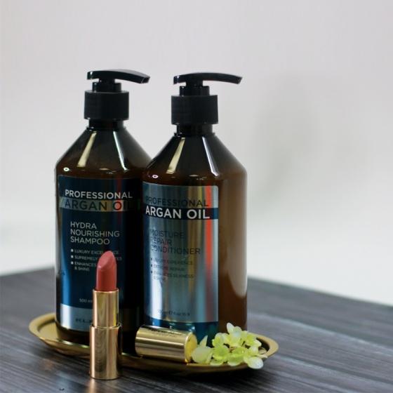 Cặp dầu gội - xả tóc khô xơProfesional Argan Oil 500ml