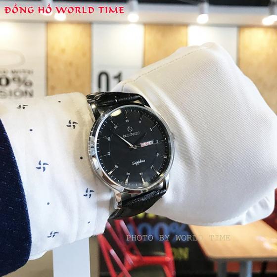Đồng hồ nam Sunrise DM1216SWA B chính hãng (full box + thẻ bảo hành 3 năm) kính sapphire chống xước - chống nước - dây da cao cấp