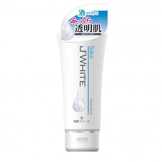 Sữa rửa mặt trắng sáng da, giảm nhăn, chống lão hóa da tinh chất rượu Sake Nhật Bản J'WHITE 160g