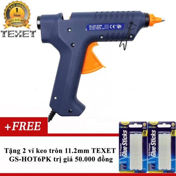 Súng bắn keo 80W Texet HH-188 tặng 2 vỉ keo 11.2mm (12 thanh keo)