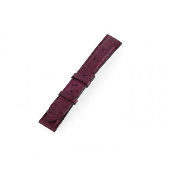 Dây đồng hồ nam nữ Huy Hoàng da đà điểu da bụng màu tím