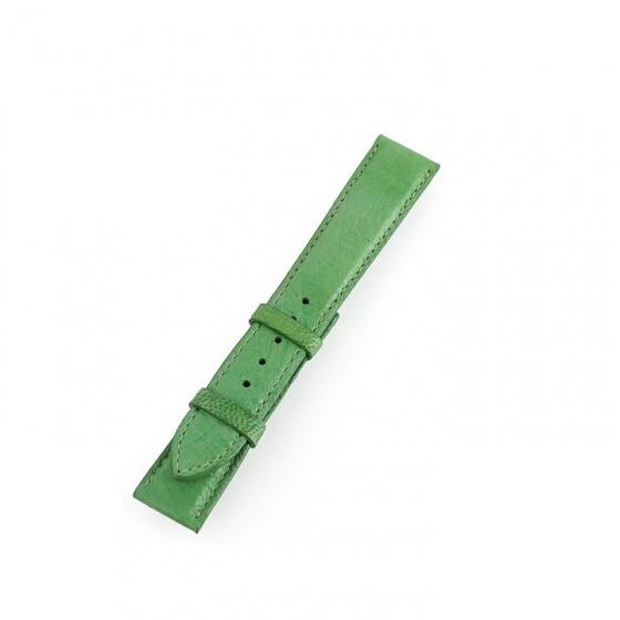 Dây đồng hồ nam nữ Huy Hoàng da đà điểu da bụng màu xanh lá