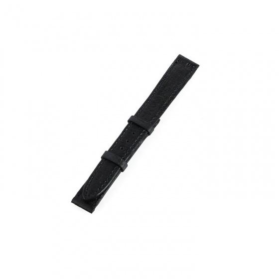 Dây đồng hồ nam nữ Huy Hoàng da đà điểu da bụng size nhỏ màu đen
