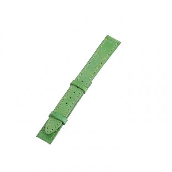 Dây đồng hồ nam nữ Huy Hoàng da đà điểu da bụng size nhỏ màu xanh lá