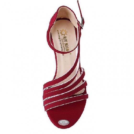 Giày sandal nữ Huy Hoàng màu đỏ HV7062