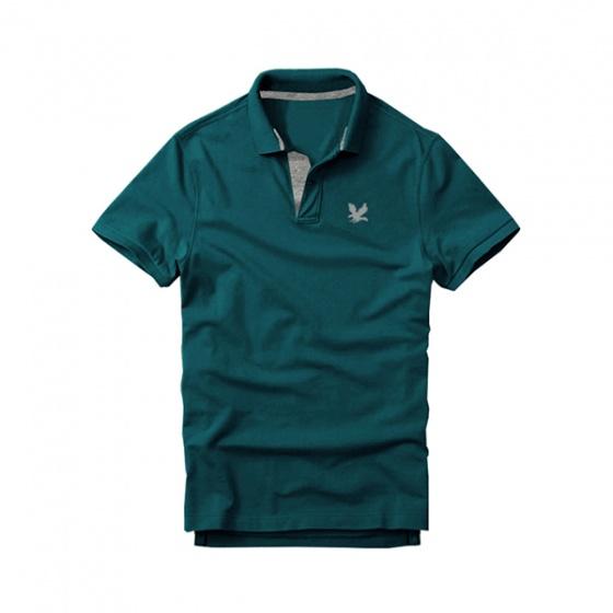 Áo thun nam cổ bẻ vải cá sấu cao cấp dokafashion, Combo 2 (xanh đen, xanh cổ vịt)