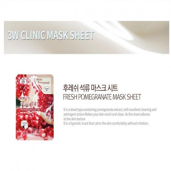 Mặt nạ dưỡng da quả lựu 3W Clinic
