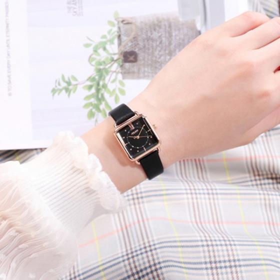 Đồng hồ nữ JA-1123 Julius Hàn Quốc hình chữ nhật