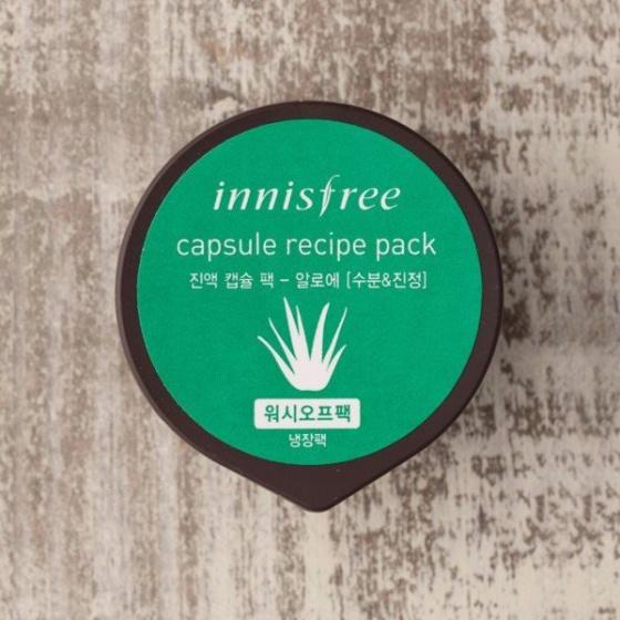 Siêu mặt nạ hũ Innisfree Capsule Recipe Pack Aloe -lô hội- 10ml
