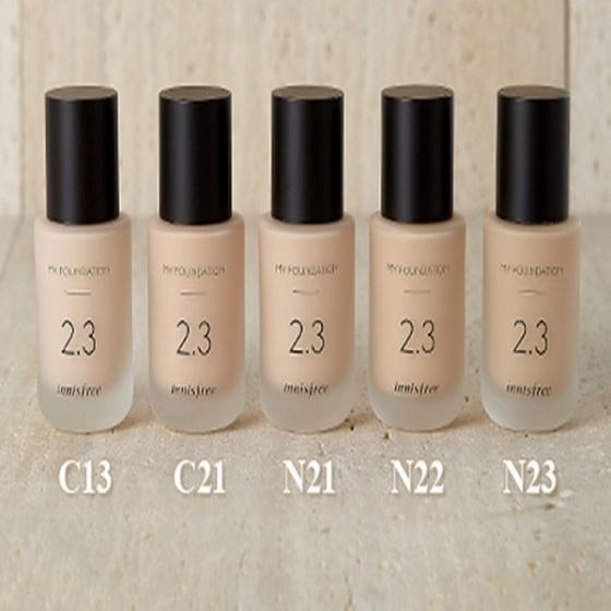 Kem nền trang điểm Innisfree My Foundation 2.3 N21 Natural Beige 30ml