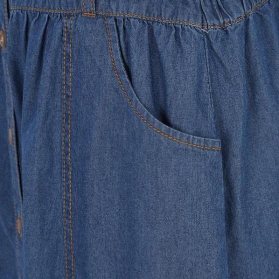 Váy yếm 2 dây xanh denim Hàn Quốc Orange Factory EQC0L343-WSL