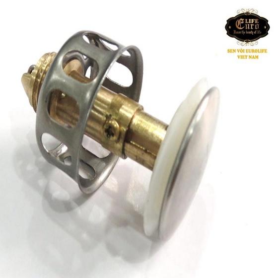 Bộ xả nhấn Inox ống lò xo nhựa linh hoạt Eurolife EL-BXN02 (trắng)