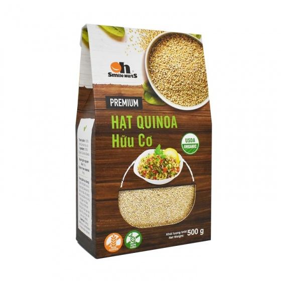 Hạt Quinoa diêm mạch Smile Nuts hộp giấy 500g - Quinoa Seed Smile Nuts 500g