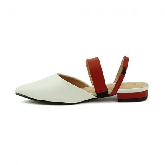 Giày búp bê êm chân Sunday BB28 màu trắng