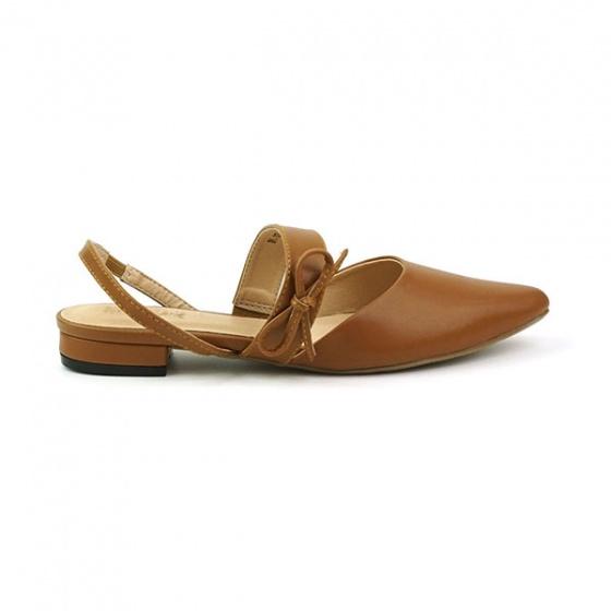 Giày búp bê êm chân Sunday BB28 màu nâu