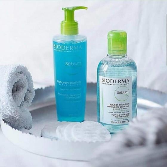 Gel rửa mặt tạo bọt cho da hỗn hợp hoặc da dầu Bioderma Sebium Gel Moussant 200ml