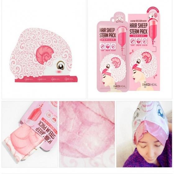 Mặt nạ hấp tóc phục hồi, nuôi dưỡng tóc mềm mượt mediheal hair sheep steam pack 40g