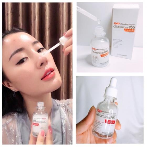 Bộ serum, cream dưỡng trắng da 7DAY Whitening Program Gutathione 700V