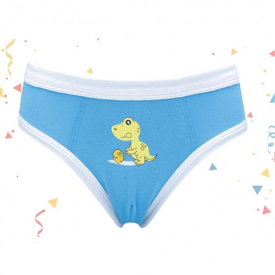 Combo 3 quần brief bé trai khủng long màu xanh iBasic PANB001