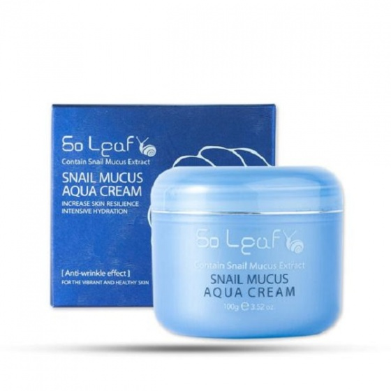 Kem dưỡng ẩm chống nhăn tinh chất ốc sên So Leaf Aqua Cream (100g)