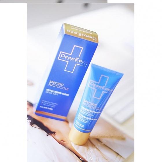 Mặt nạ kem làm thanh khiết và sáng da DermEden Exfoliating Mask - Detox 2in1 (50ml)