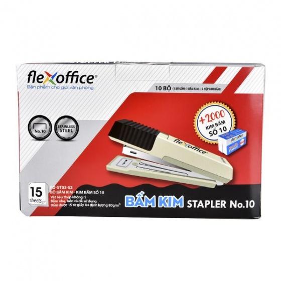 Bộ bấm kim số 10 và kim bấm Flexoffice FO-ST03-S2