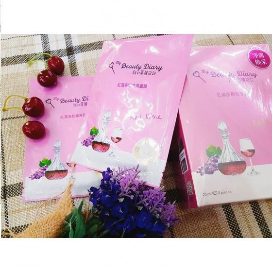 Bộ 5 mặt nạ rượu vang đỏ My Beauty Diary red vine revitalizing mask