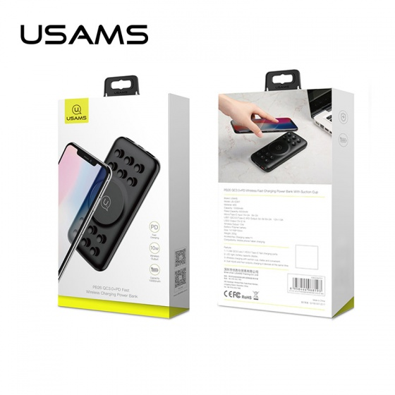 Pin sạc dự phòng không dây sạc nhanh tích hợp sạc nhiều thiết bị cùng lúc USAMS US-CD87 QC3.0+PD Wireless Power Bank 10000mAh