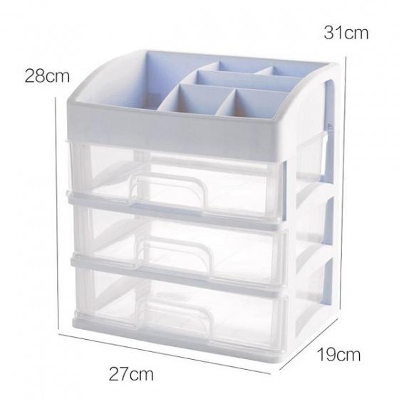 Kệ tủ đựng mỹ phẩm đồ trang điểm trong suốt 4 tầng Tashuan TS-5338