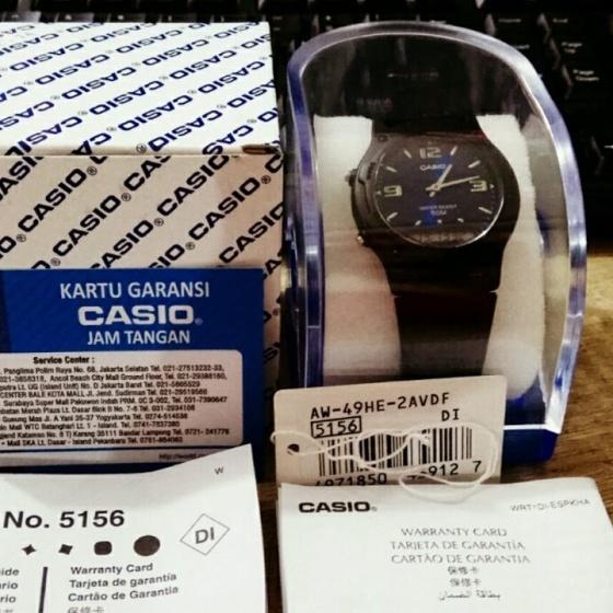 Đồng hồ nam nữ Casio AW-49HE-2AVDF, phân phối chính hãng bởi Casio LongTime