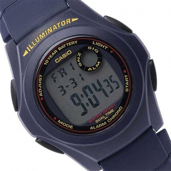 Đồng hồ dây nhựa Casio F-200W-2ADF, thương hiệu Casio Nhật 0Bản, phân phối chính hãng bởi Casio LongTime tại Việt Nam